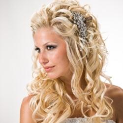 Прическа на свадьбу - распущенные волосы